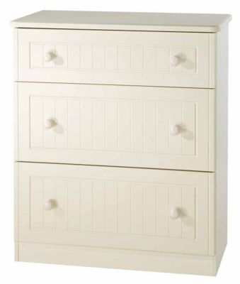 Welcome Furniture Warwick 3 Drawer Deep Chest - Cream