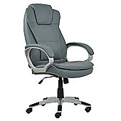 Scanon Grey Faux Leather Padded Office Chair