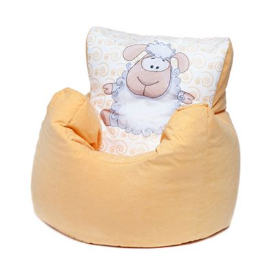 Buy Yellow Sheep Children S Character Micro Suede Bean Bag Chair