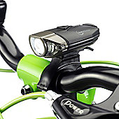 Auraglow USB Rechargeable Bicycle Bike Light Set, Front & Rear (back) LED with Quick Release & Cycle Helmet Headlight Mount