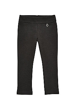 F&F School Girls Jersey Heart Trousers - Grey