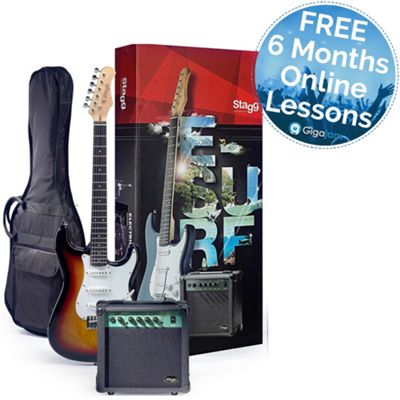 Stagg Electric Guitar Starter Pack - Sunburst