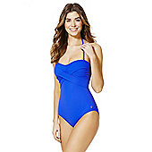 F&F Halterneck Cross-Over Swimsuit - Cobalt blue
