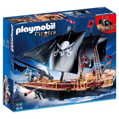 Playmobil 6678 Large Floating Pirate Raiders' Ship with 3 Pirates Playet