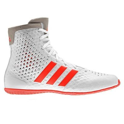adidas KO Legend 16.1 Mens Boxing Trainer Shoe Boot White/Red - UK 11.5