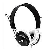 On Earz Black & White Lounge Headphones with Microphone