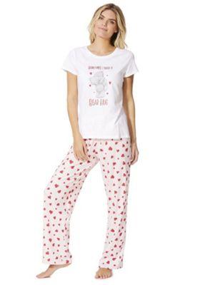 Me to You Tatty Teddy Valentine's Day Pyjamas White/Pink 8-10