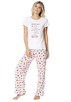 Me to You Tatty Teddy Valentine's Day Pyjamas - White & Pink