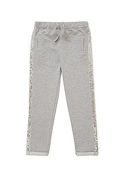 Minoti Sequin Stripe Marl Joggers - Grey