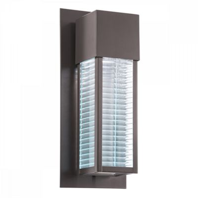 Architectural Bronze 1lt Outdoor Wall LED - 1 x 7W GU10 LED