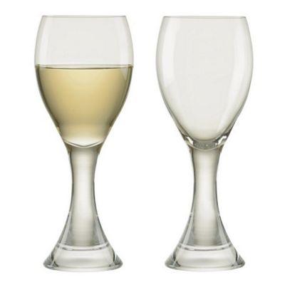 Anton Studio Design Manhattan White Wine Goblets Glasses Set Of 2