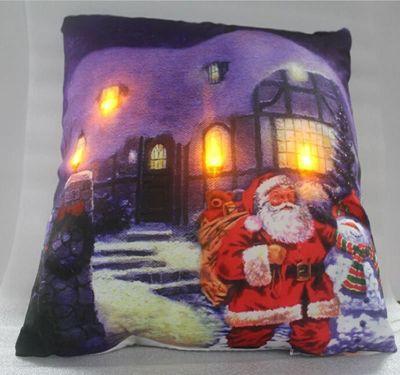 Santa Claus, Christmas LED Cushion
