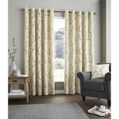 Fusion Hemsworth Ochre Curtains 46x54 Inches (117x137cm)