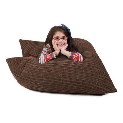 Lounge Pug® Junior Bean Bag - Cord Mocha