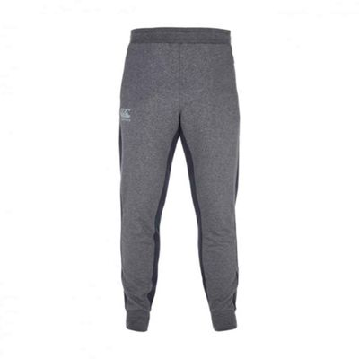Canterbury Mens Tapered Fleece Rugby Training Tracksuit Pant Charcoal - S