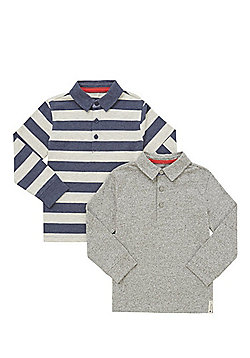 F&F 2 Pack of Rugby Tops - Grey