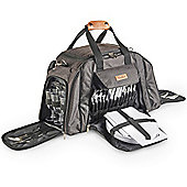 VonShef 6 Person Premium Picnic Holdall Backpack Bag Set - Grey Woven