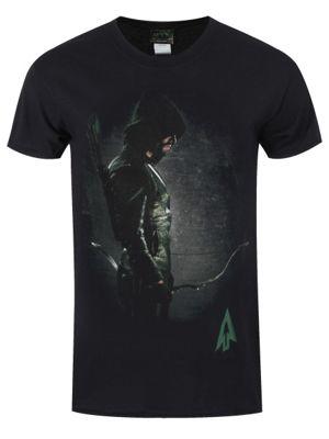 DC Comics Arrow Standing Hooded Focus Men's Black T-shirt