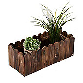 Outsunny Garden Flower Wooden Rectangle Planter Vegetable Display (60L x 25W x 22H (cm))