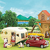 Caravan And Family Saloon Car - Sylvanian Families Figures 5055