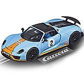 CARRERA Slot Car 27549 Porsche 918 Spyder 'Gulf Racing' - 1/32 Scalextric
