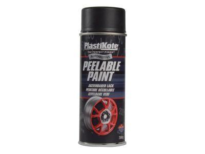 Plasti-kote Peelable Paint Black Matt 400ml