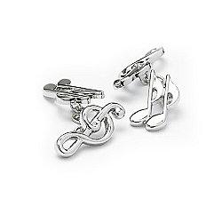 Musical Note Novelty Themed Chainlink Cufflinks