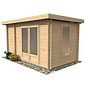 4m x 2.5m (13ft x 8ft) Sutton Pent Style Log Cabin (Double Glazing) 28mm T&G Garden Cabin - Fast Delivery - Pick A Day
