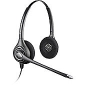 Plantronics SupraPlus HW261N Wired Stereo Headset - Over-the-head - Semi-open - Black