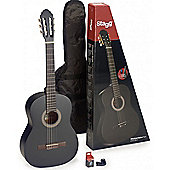 Stagg C440 Full Size Classical Guitar Package - Black