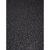 Catherine Lansfield Glitter Wallpaper - Black - 02403-14