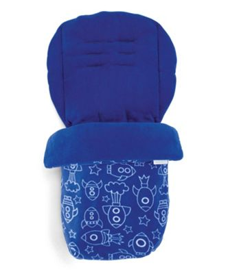 Mamas & Papas - Universal Soft Fleece Footmuff - Blue Rocket