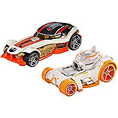 Hot Wheels Star Wars Cars - BB-8 & Poe Dameron