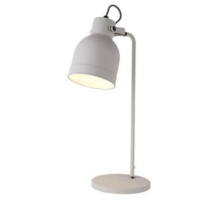 MIAMI 1 LIGHT TABLE LAMP, SANDED WHITE