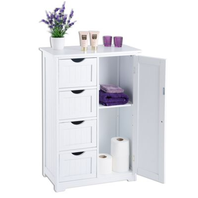range bathroom cabinets buy christow 4 drawer 1 door bathroom cabinet white from 25059