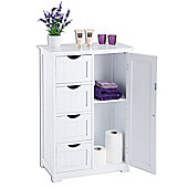 Christow 4 Drawer 1 Door Bathroom Cabinet - White