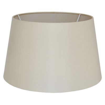35cm Almond Silk Lamp Shade Tapered Cylinder Fabric Double Lined Shade