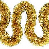 6m Gold Fine Cut 7.5cm Christmas Tree Tinsel