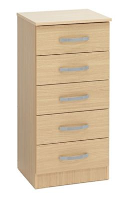 Ideal Furniture Budapest 5 Drawer Tall chest - Oak