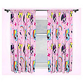 My Little Pony Equestria Pencil Pleat Curtains, Pink (54 x 66'')