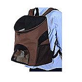 PawHut Luxury Pet Travel Backpack Carrier Bag Shoulder Rucksack Holder (Coffee)