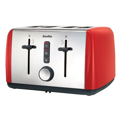 Breville VTT759 Colour Collection 4 Slice Toaster with Hi-lift Function in Red