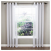 "Marrakesh Voile Eyelet Single Curtain W137xL229cm (54x90"") - White"