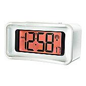 Acctim 71602 Tenma Radio Controlled Jumbo LCD Alarm Clock - White