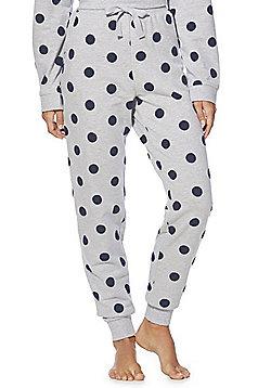 F&F Flocked Polka Dot Lounge Pants - Grey