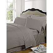 Dreamscene Highams 100% Egyptian Cotton Plain Dye Valance Sheet - Latte