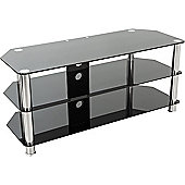AVF Universal Black Glass and Chrome Legs TV Stand For up to 50 inch TVs
