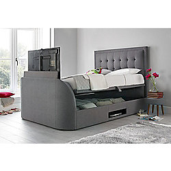 Happy Beds Metro Fabric Ottoman Storage Tv Bed Grey