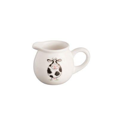 Price & Kensington Back to Front Cream Jug, Hand Drawn Design, 260 ml (White)