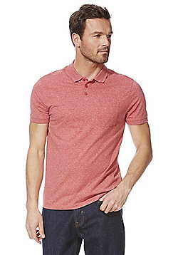 F&F Marl Cotton-Rich Polo Shirt - Red